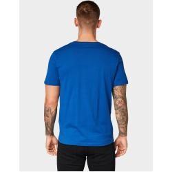 Tom Tailor Herren T-Shirt mit Logo-Print, blau, unifarben mit Print, Gr.L Tom TailorTom Tailor