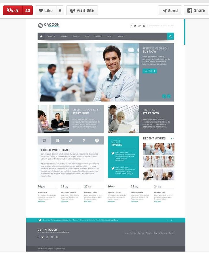 A Little Boxed In But The Clean White Aspects Of This Layout Set A Professional Tone We A Sharepoint Design Wordpress Website Design Business Wordpress Themes