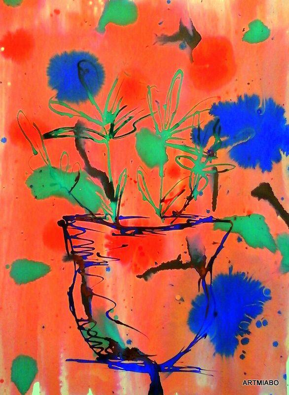 fkowers in a vase: http://www.artmiabo.com/410666557?i=118932874 - www.artmiabo.com
