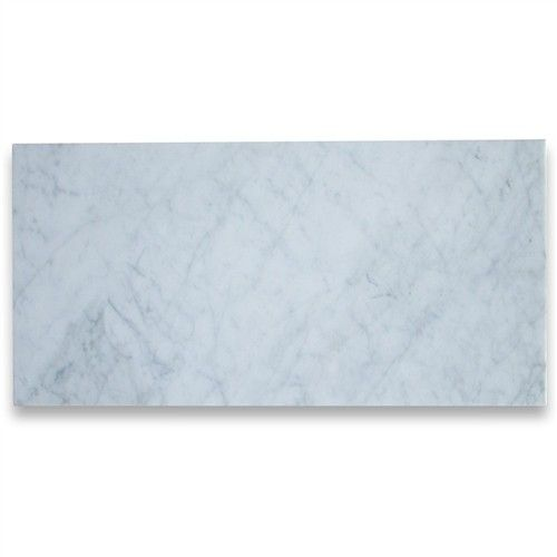 12 In X 24 In White Marble Carrara Solid Honed Flooring Tiles Carrara Marble Tile Carrara Tile Floor