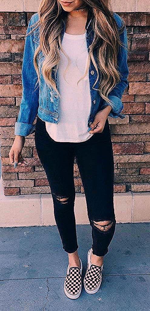Photo of Moda joven Mujer Pantalones Vaqueros y Camisa