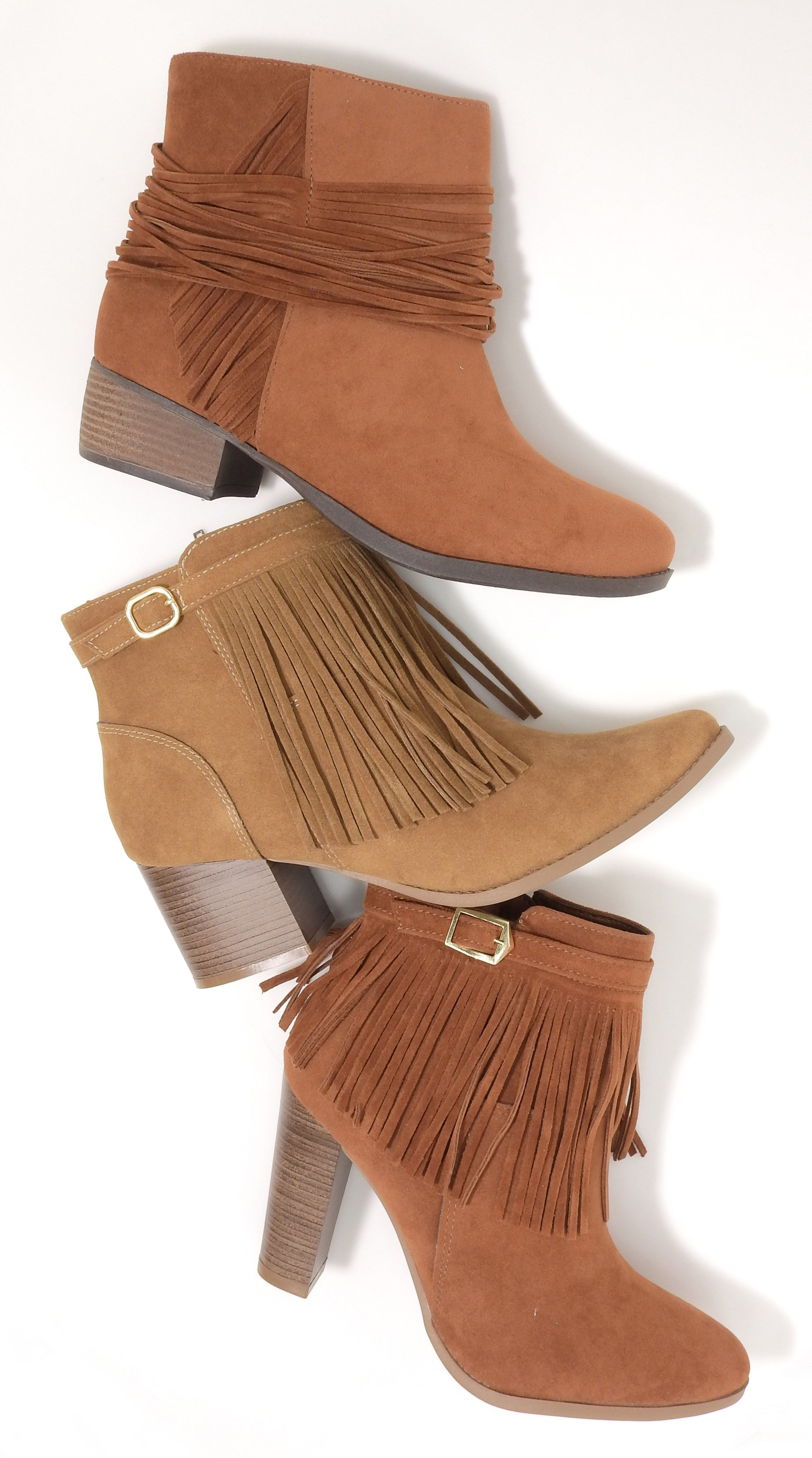 boots - botas - botas de cano curto - bota com salto - franjas - tons  terrosos… 32c7cdab9c47e
