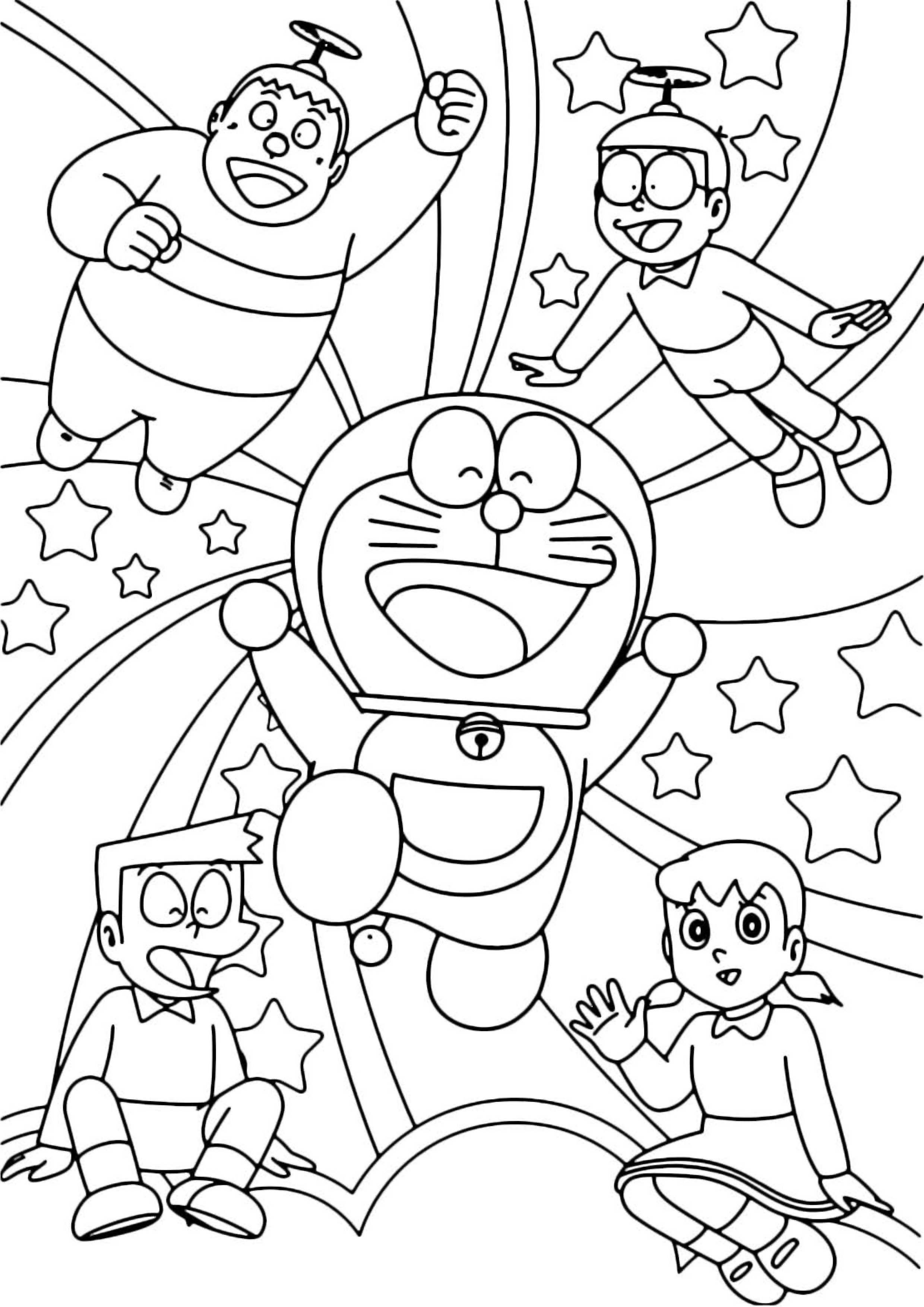 28 Disegni di Doraemon da Colorare | Pagine da colorare ...
