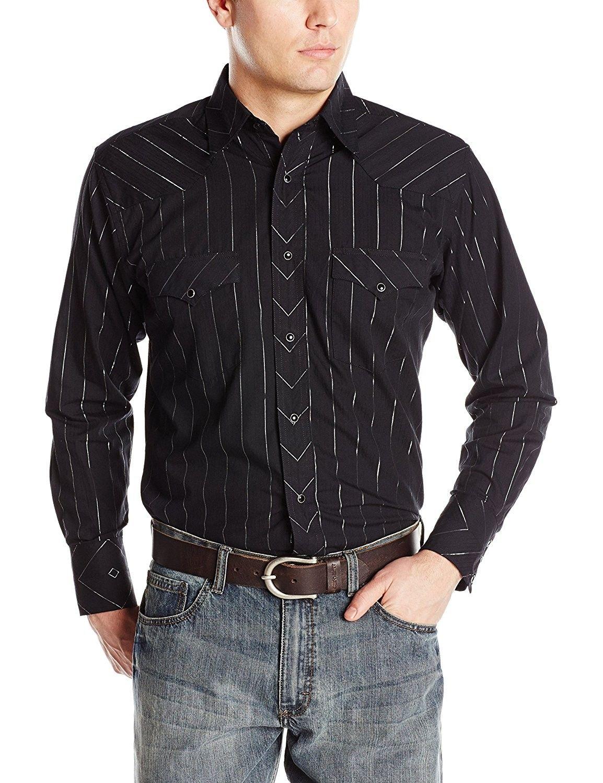 Men S Clothing Shirts Casual Button Down Shirts Men S Silver Edition Western Black Shirt Black C712bhisop3 Men Shirts Mens Outfits Mens Clothing Sale [ 1500 x 1154 Pixel ]