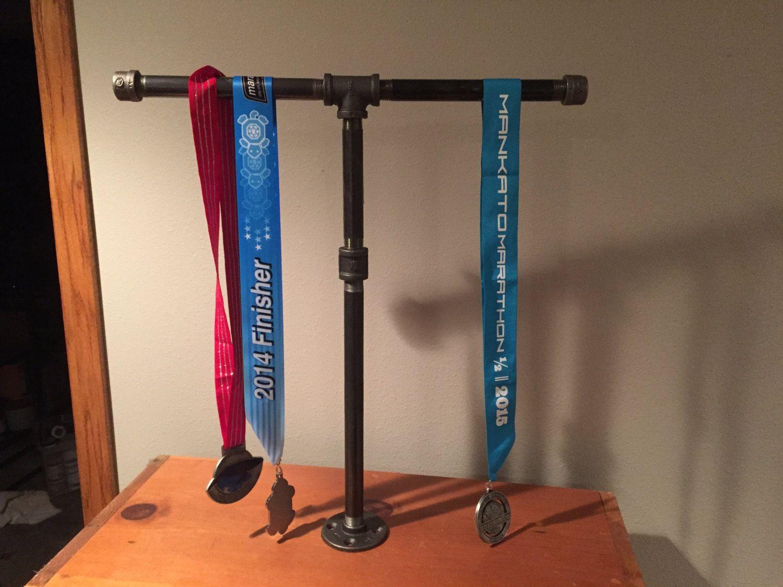 Running Medal Holder industrial black pipe Marathon, 26.1, Half ...