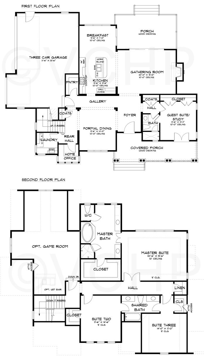 With A Little Reconfiguring Bump Out Gathering Room And Eat In Kitchen Re Orient Pantry So That It Opens Floor Plans Kitchen Floor Plans Bedroom Floor Plans