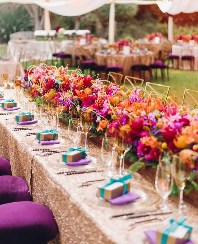 Couple's Bright Colorful Indian Wedding Is Jaw-Dropping - Couple's Bright Colorful Indian Wedding Is Jaw-Dropping Couples
