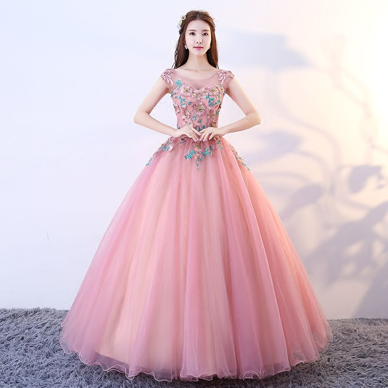 60707a98a Barato Ruthshen Doce Princesa Adolescentes 16 Ilusão Vestidos de 15  Debutante Bola Vestidos Rosa Quinceanera Partido