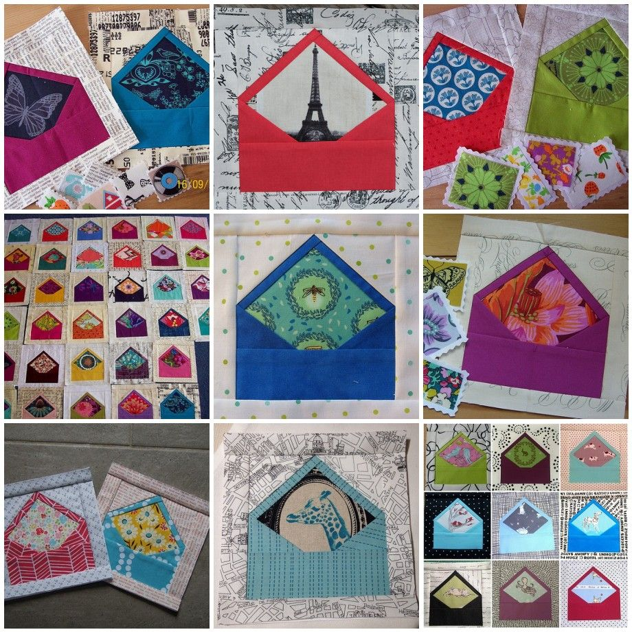Envelope quilt blocks combines my love of needlework and stationery. Perfect.