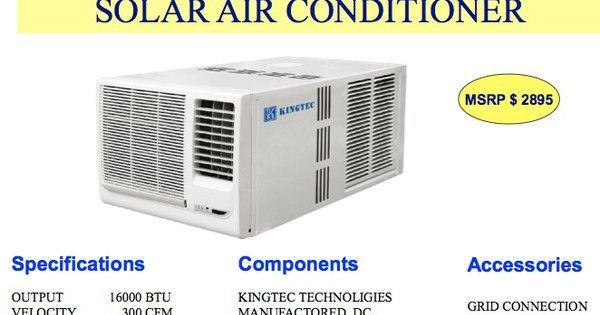 Affordable Solar Powered Air Conditioning In A Neat Little Package Is Finally Here Diy Pool Heater Solar Air Conditioner Solar