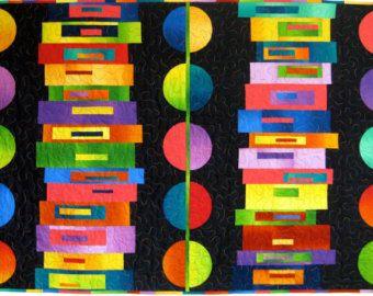 blue modern art quilts - Google Search