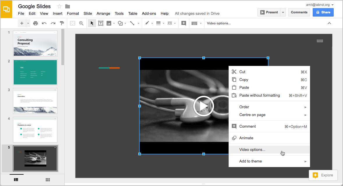 How To Embed Music In Your Google Slides Presentation Digital Inspiration Google Slides Add Music Vocab