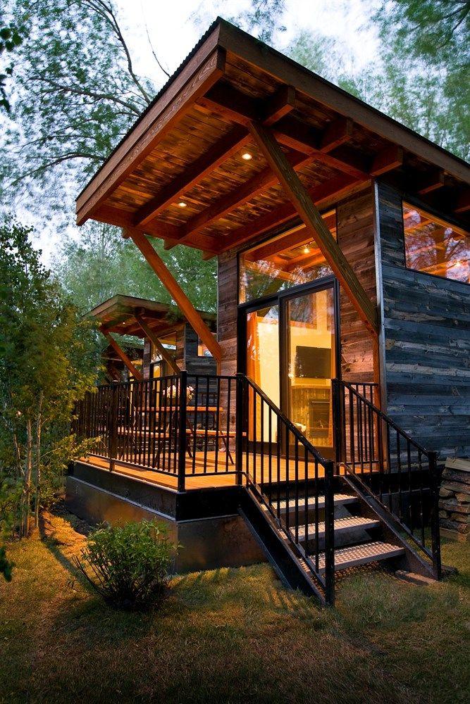The Wedge At Fireside Resort Near Jackson Hole Wy Resort Cabins Modern Cabin Cabin Design