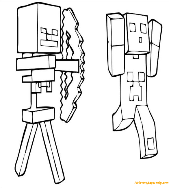 Creeper Minecraft Coloring Page Coloring Pages For Kids And Adults Color This Picture Of Creeper Minecraft Coloring Pages Lego Coloring Pages Coloring Pages
