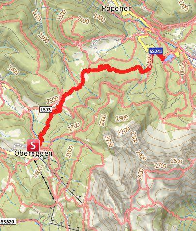 Karte Wanderung Uber Den Templweg Zum Karer See Wandern