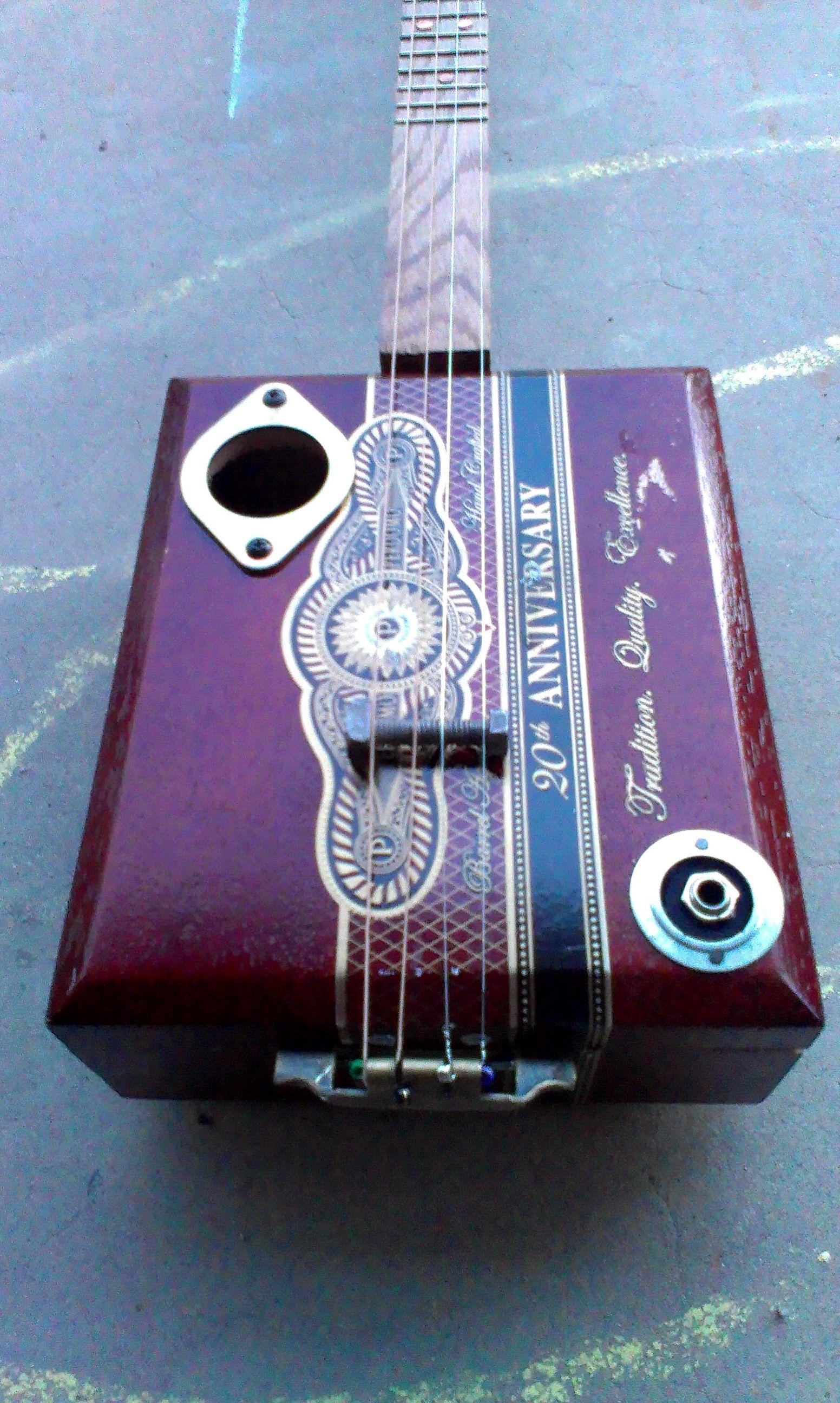 electric cigar box guitar gypsum sound box guitare bo te cigares guitare d butant guitare. Black Bedroom Furniture Sets. Home Design Ideas