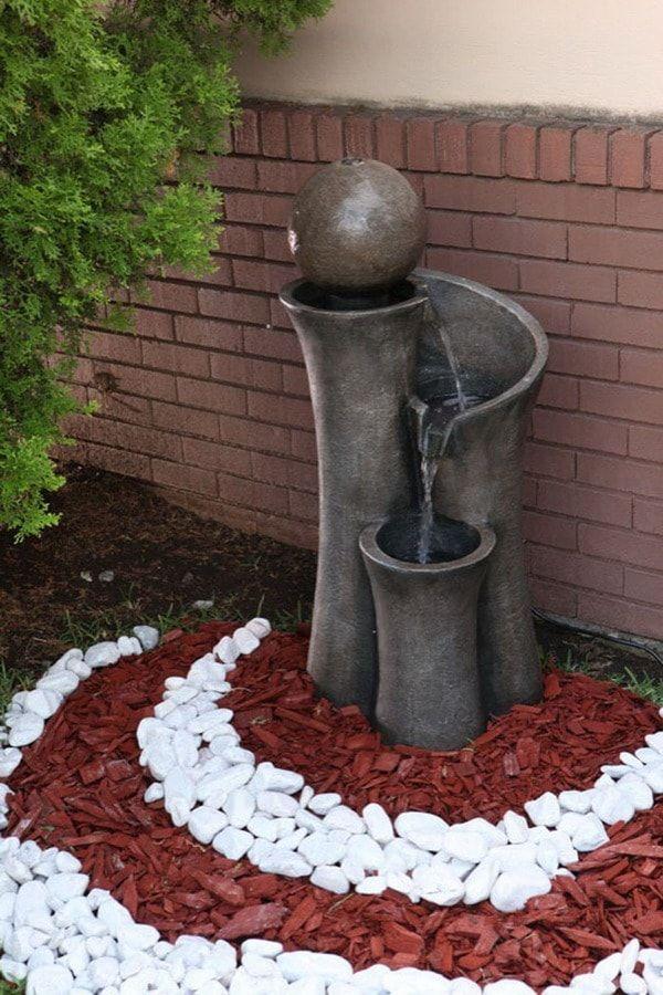 Diseo de jardines con piedras Pinterest Jardn con piedras