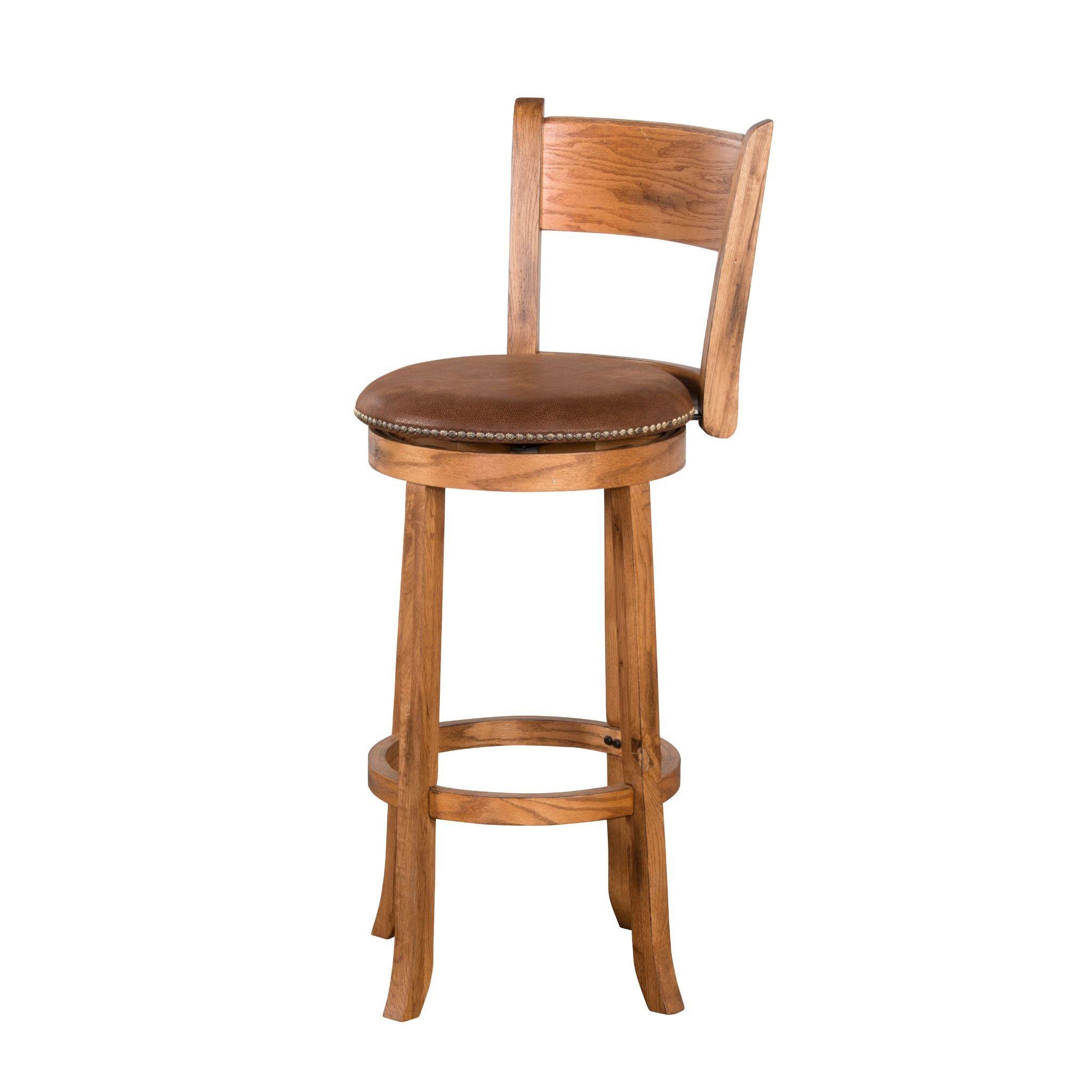 Sedona 24 H Swivel Bar Stool With Back Swivel Bar Stools Bar