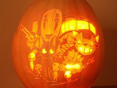 No Face Jack O Lantern Spirited Away Stencil Google Search Pumpkin Carving Ghibli Halloween Pumpkins Carvings