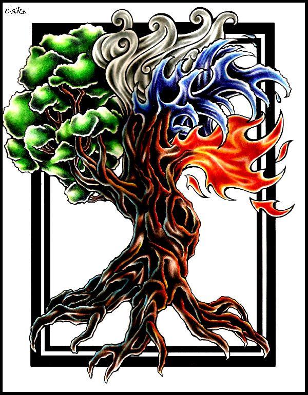 tree of life elements of life tattoos pinterest more tattoo ideas. Black Bedroom Furniture Sets. Home Design Ideas