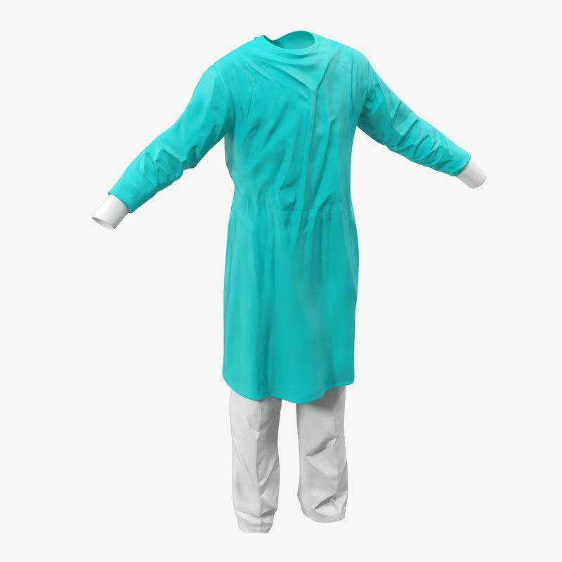surgeon dress 5 3d model 3d model  ad   surgeon dress