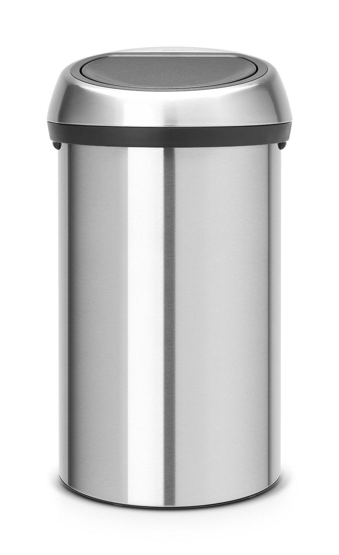 Brabantia Wasbox 30 Liter Matt Steel.Brabantia Touch Bin 60 L Matt Steel Fingerprint Proof