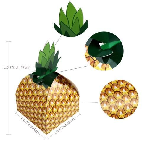 OurWarm Hawaiian Pineapple Party Candy Boxes 40pcs Hawaiian Party Mesmerizing Decorative Candy Boxes
