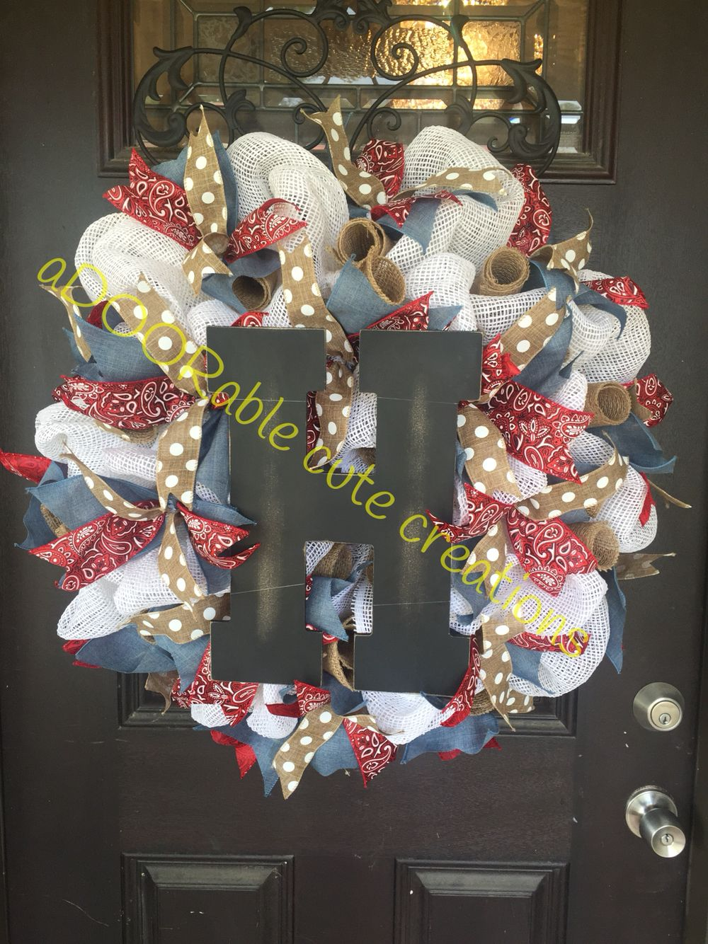 Absolutely in love with this wreath. The prints of the