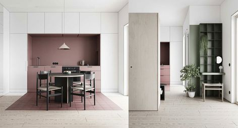 If you are wondering How to arrange an open plan layout, have a look at thishome tour and how the designer organized the layout