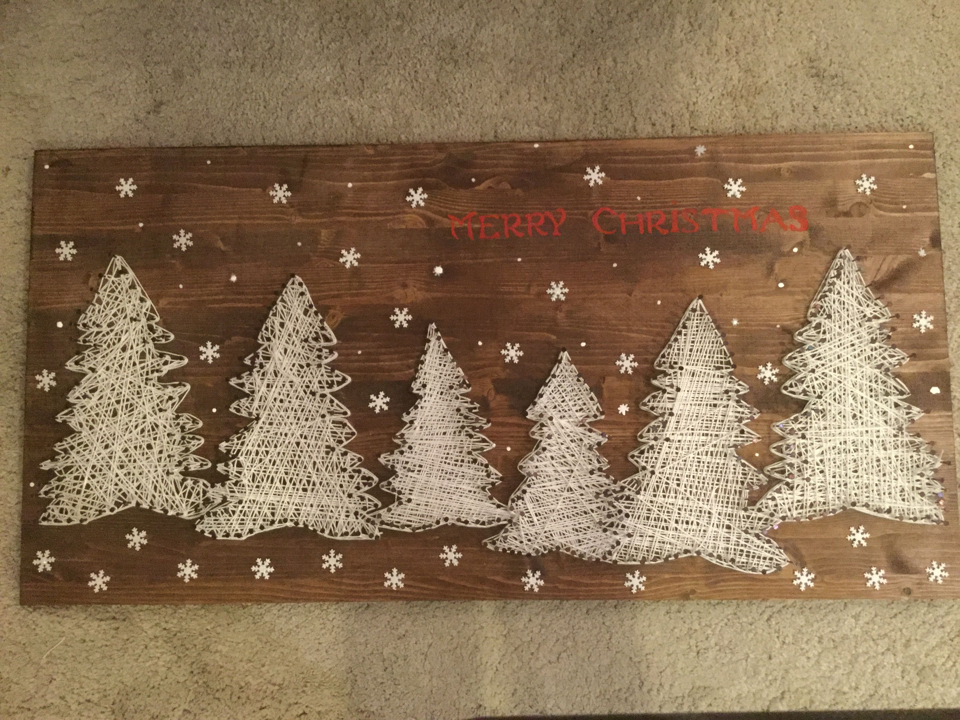 Pine tree string art wood. Alessandra Vinci #stringart