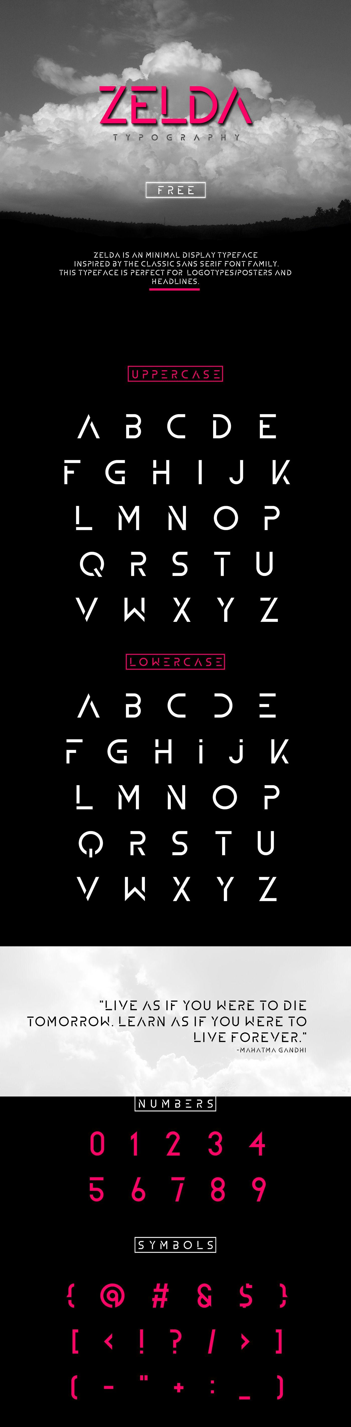 Fresh Free Font Of The Day Zelda Alfabeto de