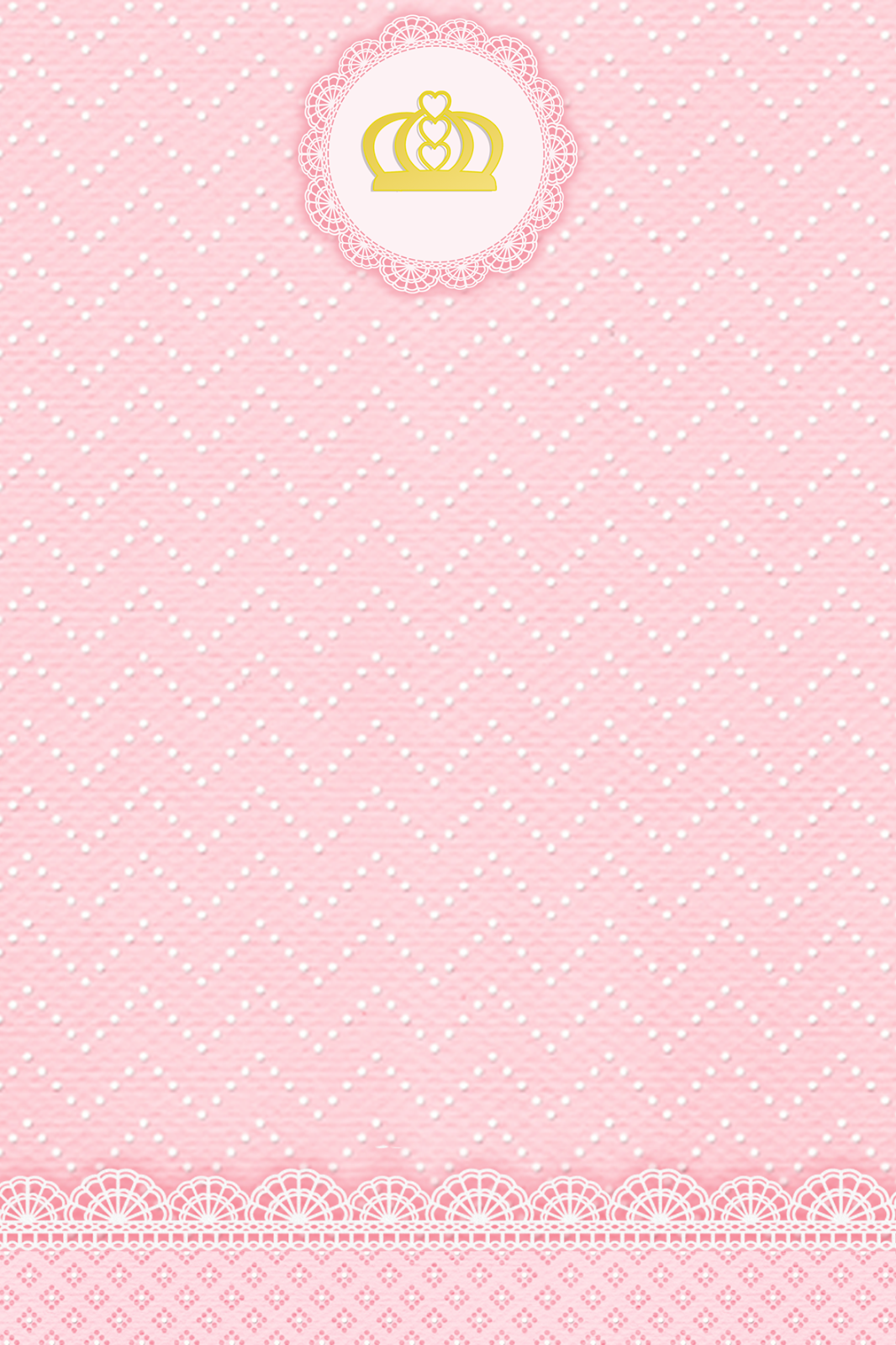 db62b7f20 Montando minha festa: Kit digital gratuito para imprimir Princess - Coroa  de Princesa Rosa! Mais