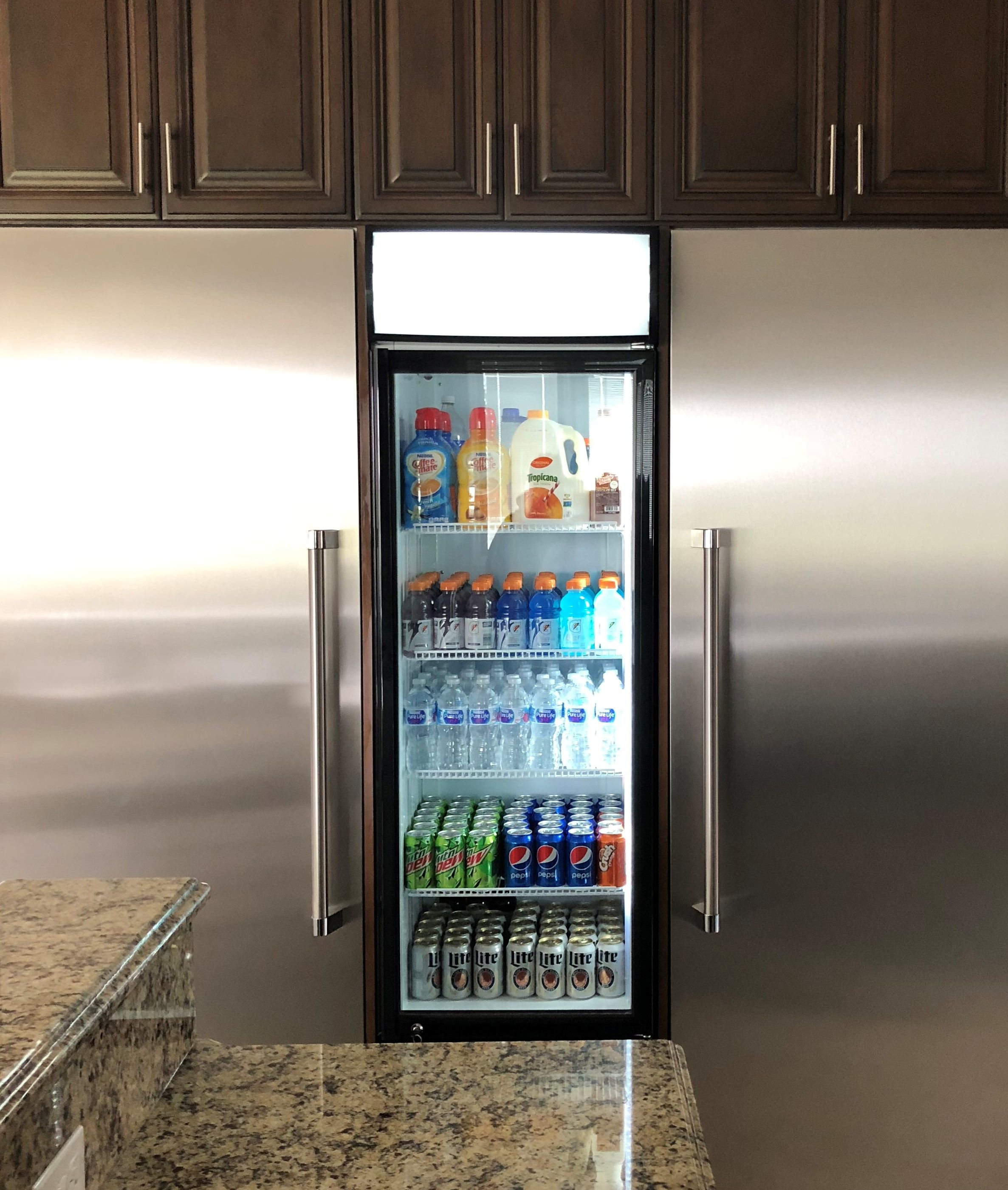 Glass Door Kitchen Refrigerator Glass Door Refrigerator Kitchen Remodel Kitchen Glass Doors
