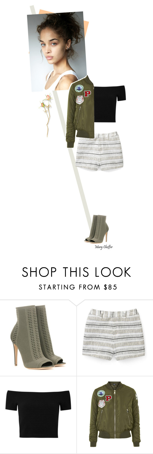 """""""There's no stopping the wind."""" by mcheffer ❤ liked on Polyvore featuring Gianvito Rossi, Rebecca Minkoff, Alice + Olivia, Sanders and Topshop"""