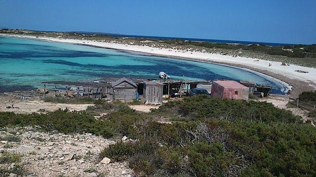 Playa de Ses Salines Formentera. Una maravilla de playa, por suas agua limpias y transparentes.