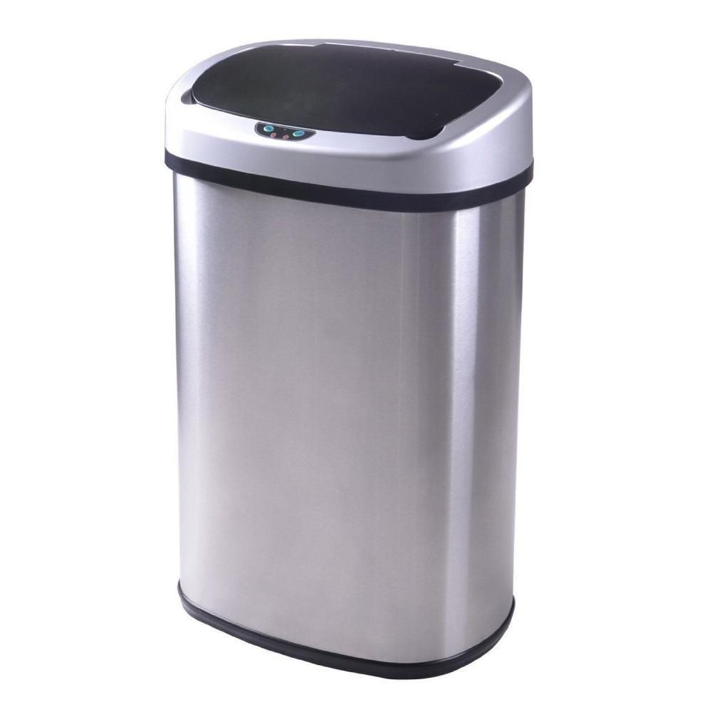 New 13 Gallon Touch Free Sensor Automatic Touchless Trash Can
