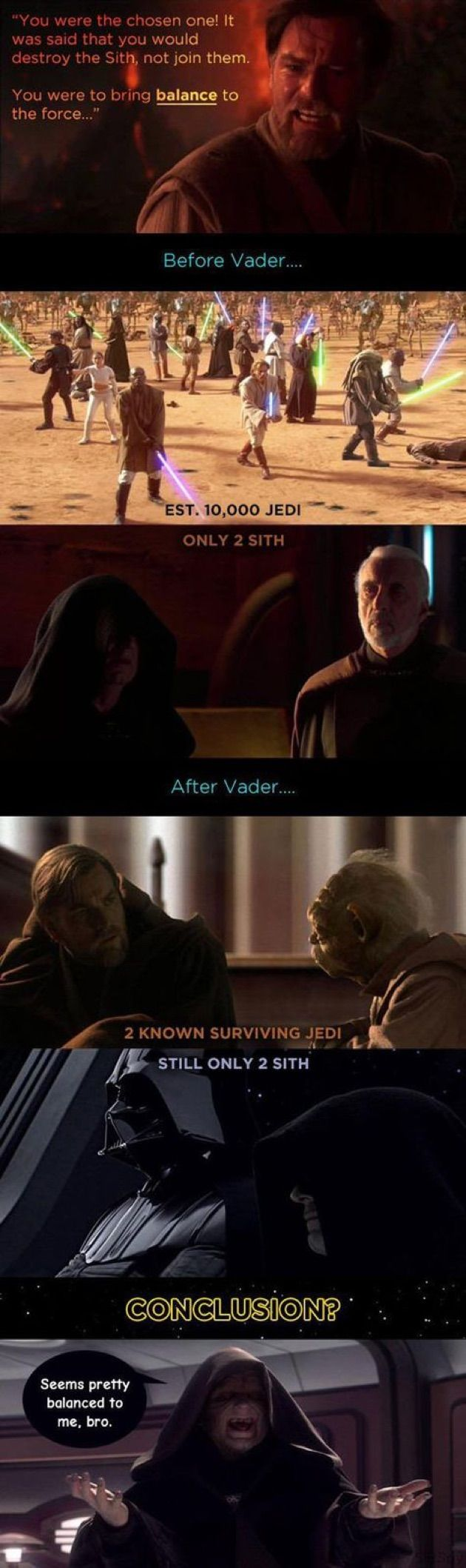 Funny Star Wars Memes...oh, Palpatine, always thinking on the positive side...