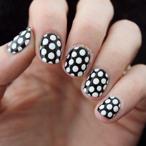 Resultado de imagen para uñas decoradas con colores oscuros faciles ...