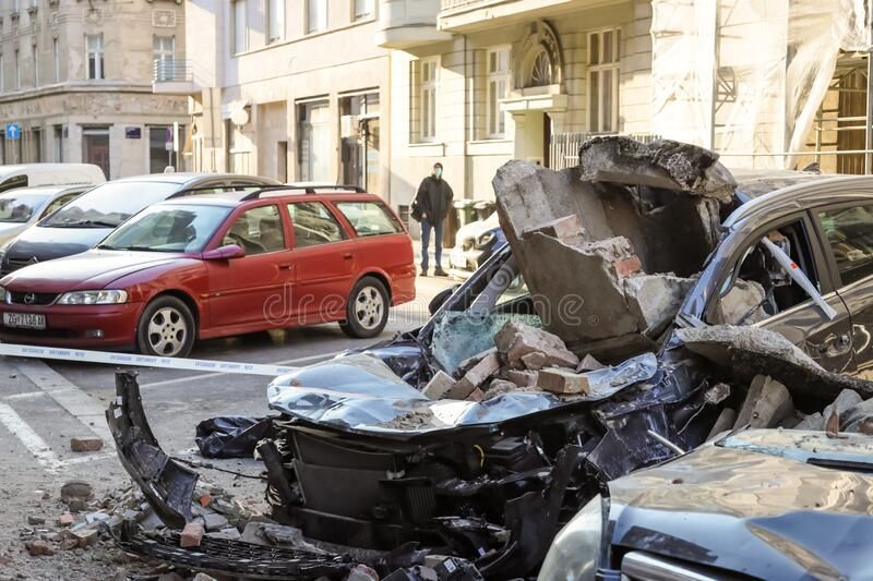 Zagreb Hit By The Earthquake Destroyed Cars Stock Image Sponsored Paid Earthquake Hit Zagreb Destroyed Image In 2020 Art Logo Zagreb Earthquake