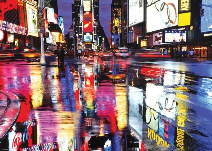 times square reflections