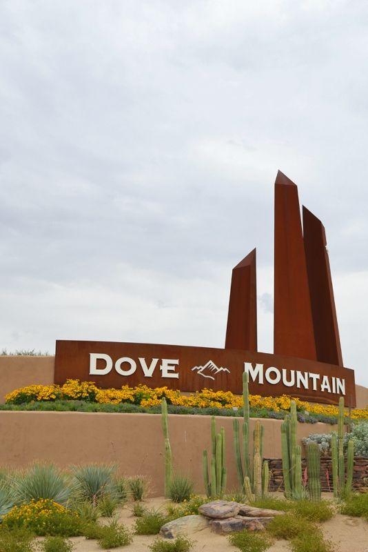Entrance to Dove Mountain area of Marana, AZ. Home to the Golf Club at Dove Mountain
