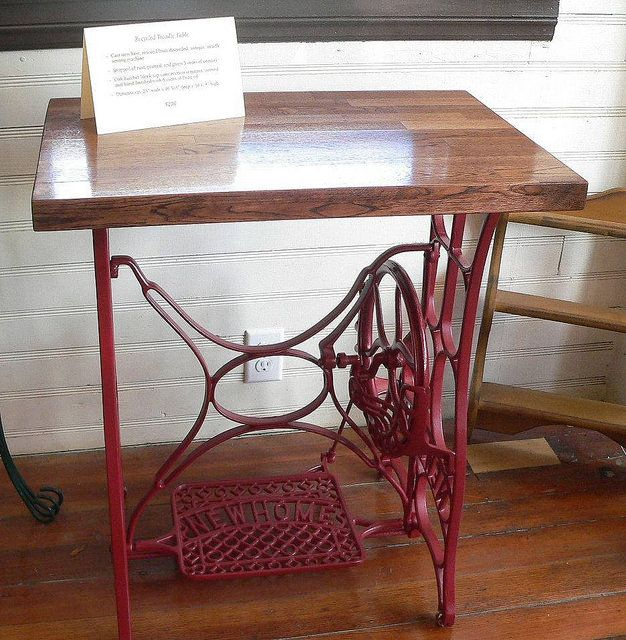 Treadle Table Repurposed Treadle Sewing Machines