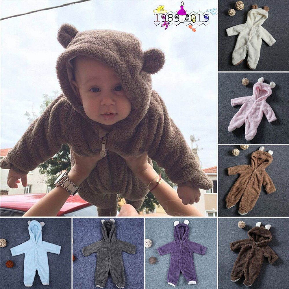 5daeb805987  4.99 - Newborn Baby Infant Boy Girl Rabbit Ear Romper Hooded Jumpsuit  Outfits Clothes  ebay  Fashion