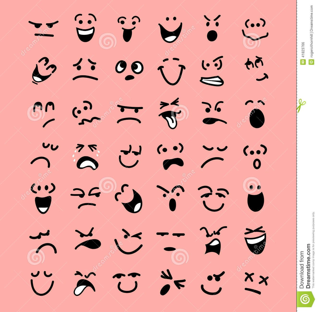 Facial Expressions And Emotions Clipart Mood Clip Art