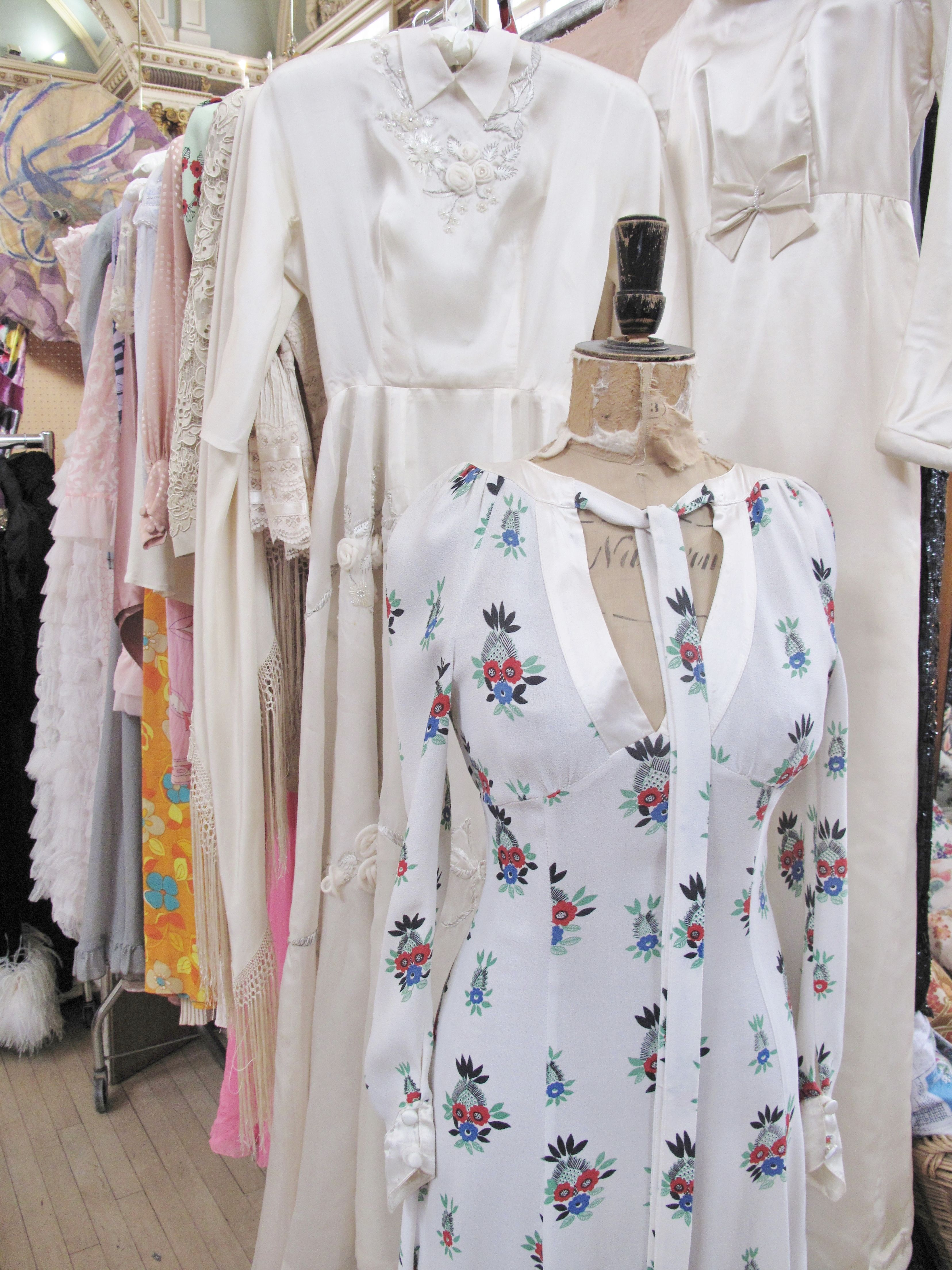 Ossie clark dress with ceia birtwell vintage at frock me vintage