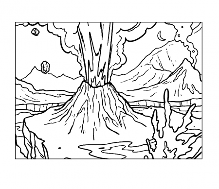 Volcano Coloring Pages Coloring Rocks In 2020 Coloring Pages Coloring Rocks Color