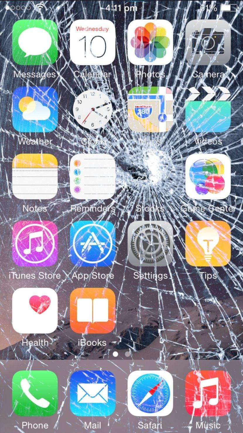 7 Broken Screen Wallpapers Prank For Apple Iphone Fundos De Tela Iphone Papel De Parede Do Telefone Papel De Parede Samsung