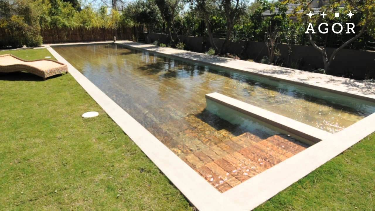 Israeli Engineering Company Agor Has Created A Hidden Adjustable Swimming Pool With Moveable Floors The Pools Are Disappearing Pool Hidden Pool Small Backyard