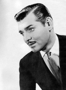 Men Hairstyle Slicked Across Hair Facial Hair Famous Actor Clark Gable Star Of Gone With The Wind Mens Hairstyles Clark Gable Hair Styles