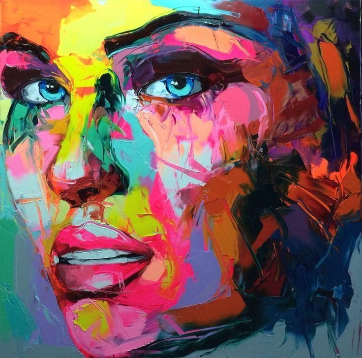Palete Knife Work In Oils Painting Ladies Faces